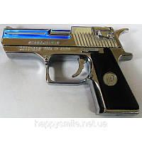Зажигалка с лазером в виде пистолета