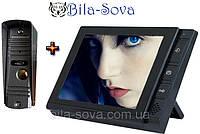 """Комплект: цветной LCD 8"""" домофон V-806 + блок вызова V-305HD, 700 ТВЛ, Viatec"""