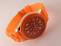 GENEVA - оранжевые женские часы на силиконовом ремешке