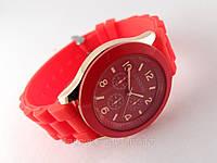GENEVA - красные женские часы на силиконовом ремешке