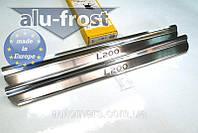 Накладки на пороги Mitsubishi L200 2006+