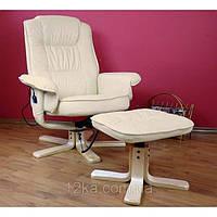 Массажное кресло + пуф REGOline с подогревом бежевое