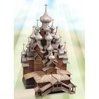 Церковь Преображения Господня. Сборная модель из картона. Без ножниц и клея. Серия архитектурные памятники.