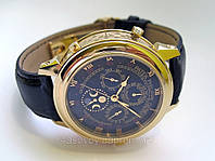 Мужские часы Patek Philippe - SKY MOON tourbillon на кожаном ремешке, двухсторонни AAA