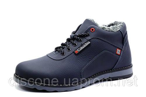 Зимние ботинки мужские Columbia TRACK II на меху, синие, натуральная кожа, р. 40 41