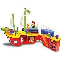 Детская игрушка Игровой набор - ПИРАТСКИЙ КОРАБЛЬ (на колесах, свет, звук)