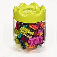 детская игрушка Конструктор-бристл - МЕГАПОЛИС (68 деталей, в банке)