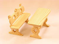 Стол и скамейка для куклы
