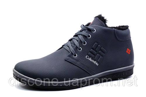 Зимние ботинки на меху Columbia TRACK II мужские, черные натуральная кожа, р. 43