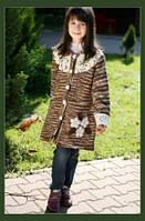Пальто для девочек  на подкладке,
