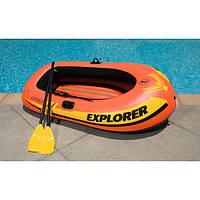 Надувная лодка гребная двухместная Intex 58331 (185х94х41 см.) + Весла, насос. Explorer 200