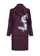Трикотажное платье летучая мышь Бабочки