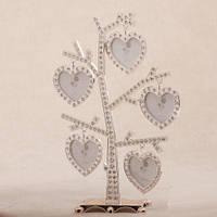 """Стильная фоторамка - дерево """"Сердца в стразах"""" 25 см подарки на годовщину"""