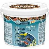 Tetra Pond Multi Mix 10л-смесь гранулы, хлопья, таблетки, гаммарус.(705904 /136229)