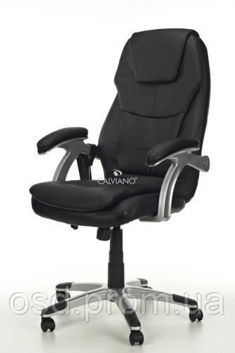 Кресло с массажем THORNET+ПОДОГРЕВ черное
