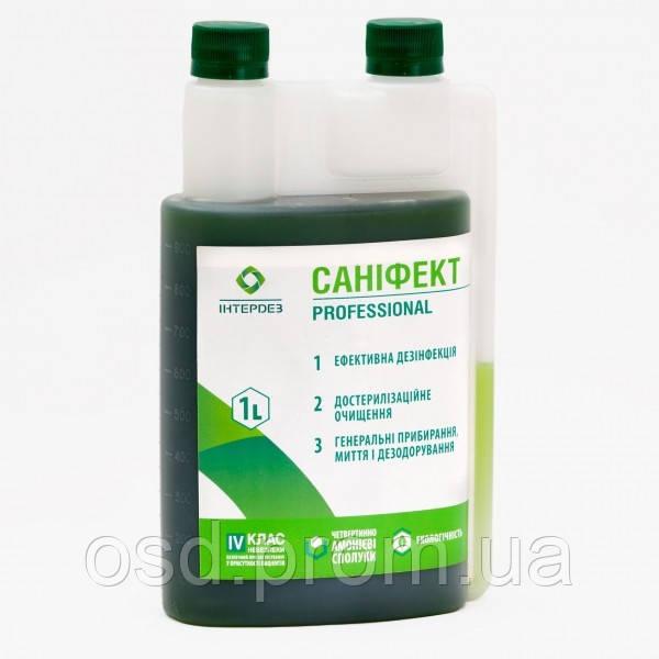 Универсальное безопасное жидкое дезинфекционное средство Санифект 1 л. (Интердез)