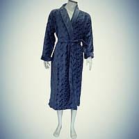 Мужской халат с воротником - хлопок - Турция   pr-hm541