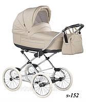 Универсальная детская коляска 2 в 1Roan Marita Prestige кожа (14 колесо) S 152 chrom