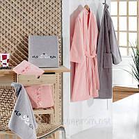 Семейный набор халатов Kristal Helen Pembe Beyaz   pr-s0105