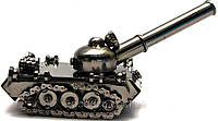 Техно-арт сувенир - модель танка из металла