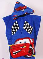 Полотенце-пончо детское Тачки с капюшоном