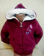 Курточка детская меховая для девочки (демисезонная)