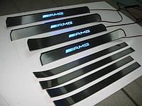Накладки на пороги для Мерседес W221 автомобильные, фото 1