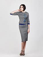 Женский трикотажный костюм  украшен вышивкой из Сакура, фото 1
