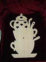 Часы горка посуды (39 х 26 см), декор