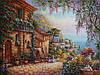 «Прогулка в старом городе» картина маслом