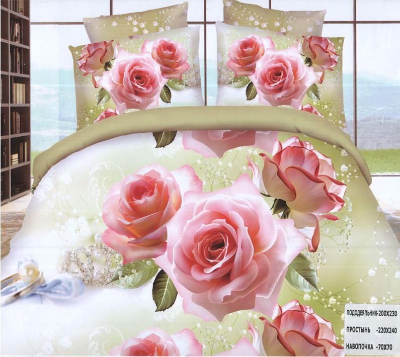 Комплект постельного белья (евро-размер) № 753