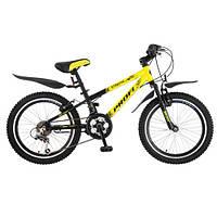 Спортивный велосипед 20 дюймов PROFI - Union XM204 (черно-желтый) - алюминиевый