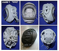 Шлем для карате KUDO Суперсейф, кожа белый тип 1