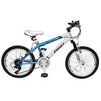 Спортивный велосипед 20 дюймов PROFI - Motion 20.3 (бирюзово-белый) - на стальной раме