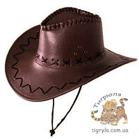 Шляпа ковбоя , ковбойская шляпа Коричневый