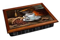 Поднос на подушке Ароматный кофеек