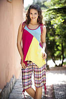 Пижама футболка+бриджи PM-4721
