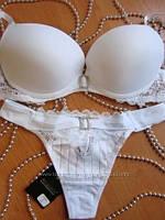 Бюстгальтер и трусики белого цвета Balaloum 9266