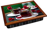 """Поднос +на подушке """"Чай и Розы"""""""