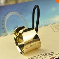 """Зажим для волос, заколка для волос, кольцо цилиндрической формы """"золотой цвет"""""""