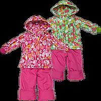 Детский весенний, осенний комбинезон (штаны на шлейках и куртка) на флисе и холлофайбере р 80 86 92 98 104 Д14