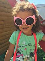 Солнцезащитные розовые  детские очки