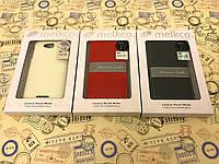 Чехол флип Melkco для Lenovo A706 чёрный красный и белый чехол накладка