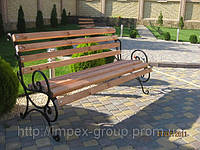 Лавка садово паркова металева