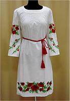 Плаття з довгим рукавом. Вишите Маками. Платье с длинным рукавом Мак.
