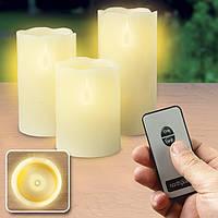 Светодиодные свечи с пультом  3шт разной высоты
