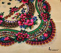 Кремова маленька хустка в українському стилі Стефанія