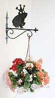 Настенная подставка для подвесного цветка Лягушка Л-1