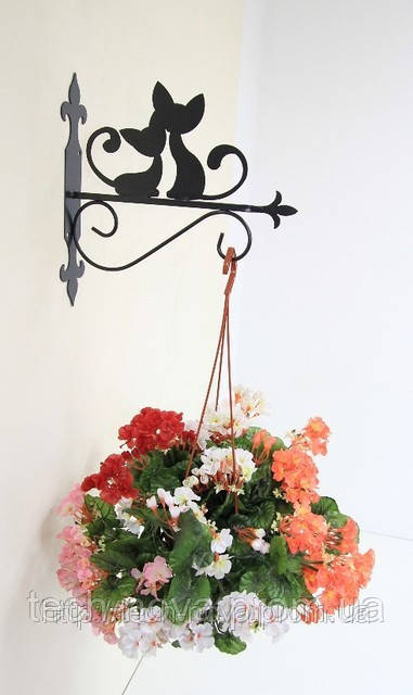 Подставки для цветов подвесные из металла