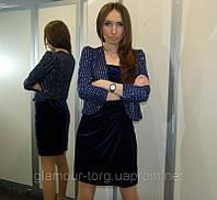 Платье велюровое J.S. Boutique (S)